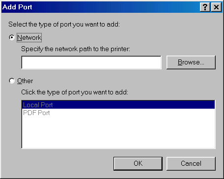 Add Port: Network
